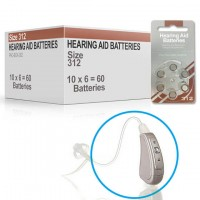 Hearing Aid Batteries for TOUCH® Hearing Aid - Size 312 (60 pcs)