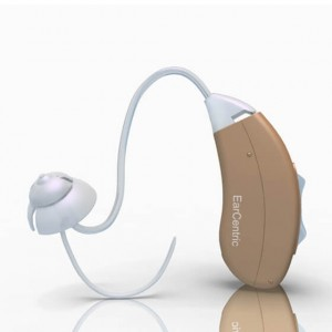 Custom Programmed Digital Hearing Aid for High Frequency Hearing Amplification - Right Ear - Beige