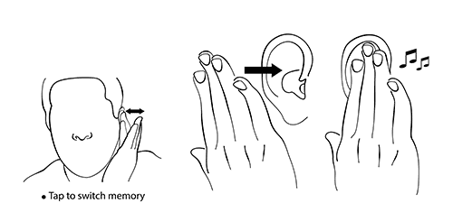 CIC hearing aid eartap acoustic switch